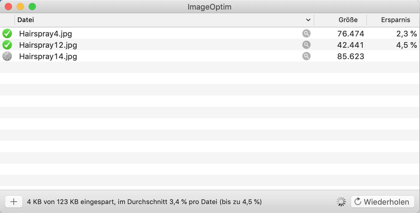 Screenshot ImageOptim App