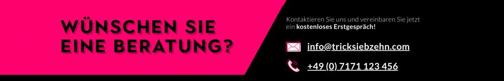 Tricksiebzehn Online-Werbeagentur - Wünschen Sie eine Beratung? info@tricksiebzehn.com