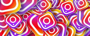 Viele Instagram Icons auf einem Haufen
