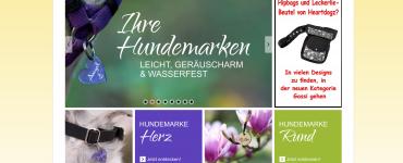 Dog's Hundemarke Online Shop Screenshot